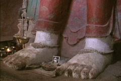 Image of Kannon bodisattva Alchi Ladakh Stock Footage