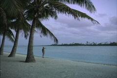 Aitutaki Man by lagoon Stock Footage