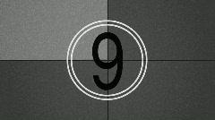 Retro Film Countdown Stock Footage