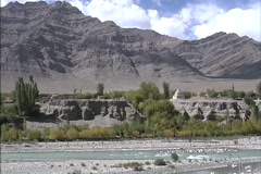 Indus River & Zanzkar Range Stock Footage