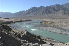 Rapids in Indus River Stock Footage