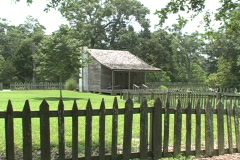 Acadian cabin and fence  Stock Footage
