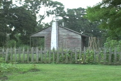 Acadian cabin and a chimney Stock Footage