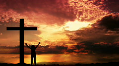 Worship at Sunset Stock Footage