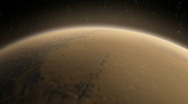 Mars Orbit Flyover Stock Footage