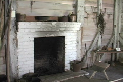 Cajun fireplace Audubon park LA Stock Footage