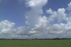 Clouds over pasture land in LA Stock Footage