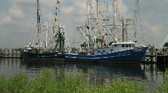 Shrimp Boats in the Gulf of Mexico - stock footage