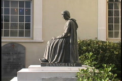 Evangeline statue LA  Stock Footage