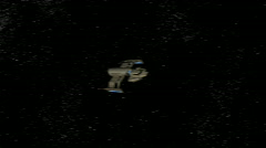 Starship Flyby 2 Stock Footage