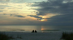 Florida Couple on beach Stock Footage