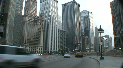 Chicago HD BCS4-26 cars around corner-1080x1920 photo jpg w de interlace Stock Footage