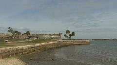 Spanish fort St Augustine Florida Stock Footage