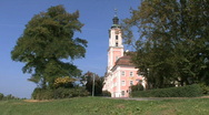 Stock Video Footage of Germany Birnau pilgrimage church