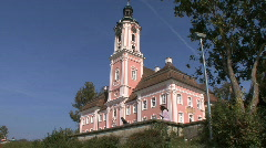 Germany Looking up at Birnau pilgrimage church Stock Footage