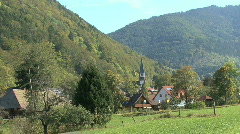 Germany Geschwend village in the Black Forest Stock Footage