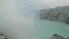 Crater Ijen Volcano timelapse Stock Footage