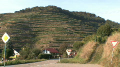Germany Black Forest loess area terraced vineyards Stock Footage