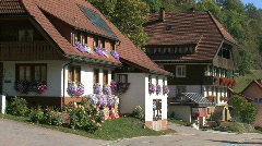 Germany Black Forest houses in village Stock Footage