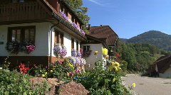 Germany Black Forest houses at  Weiden  Stock Footage