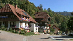 Germany Black Forest tractor at Wieden  Stock Footage