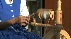 Germany Black Forest woman spinning  Stock Footage
