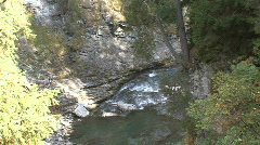 Rapids on the Upper Rhine in a gorge Stock Footage