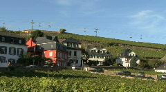 Houses and vineyards in the Rheingau Stock Footage