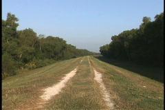 Mississippi levee Plaquemines Stock Footage