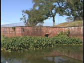 Fort Jackson moat Louisiana Stock Footage