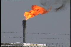 Plaquemines oil refinery flame LA Stock Footage