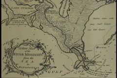 Plaquemines Old map Miss delta LA Stock Footage