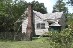 Rural Life Frame house and chimney La Stock Footage