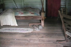 Rural Life Interior Cajun cabin LA Stock Footage