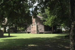 Rural Life Log house and chimney LA Stock Footage