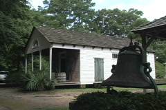 Rural Life Museum House with bell LA Stock Footage