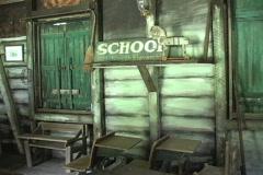 Rural Life School sign LA Stock Footage