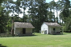 Slave cabins Audubon st historic site La - stock footage