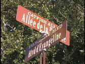 Street sign St. Martinville, LA Stock Footage