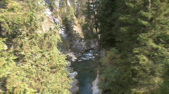 Switzerland rapids in gorge on Hinter Rein  Stock Footage