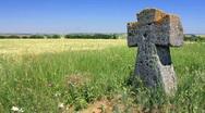 Ancient tomb cross (Full HD) Stock Footage