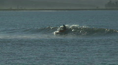 Canoe in sea surf  Stock Footage