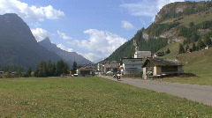 Switzerland Splugen motocycles Stock Footage