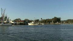 Tarpon Springs boat and bird Stock Footage
