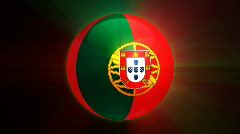 Portugal Globe Stock Footage