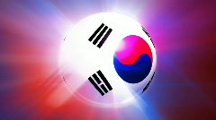 South Korea Globe Stock Footage
