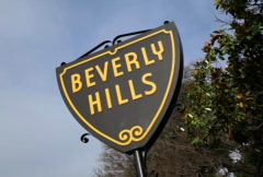 Beverly Hills Sign 03 NTSC - stock footage