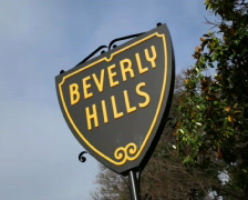 Beverly Hills Sign 03 PAL - stock footage