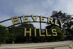 Beverly Hills Sign 05 NTSC - stock footage