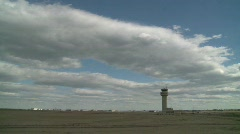 Air traffic control tower, #8  wide shot - stock footage